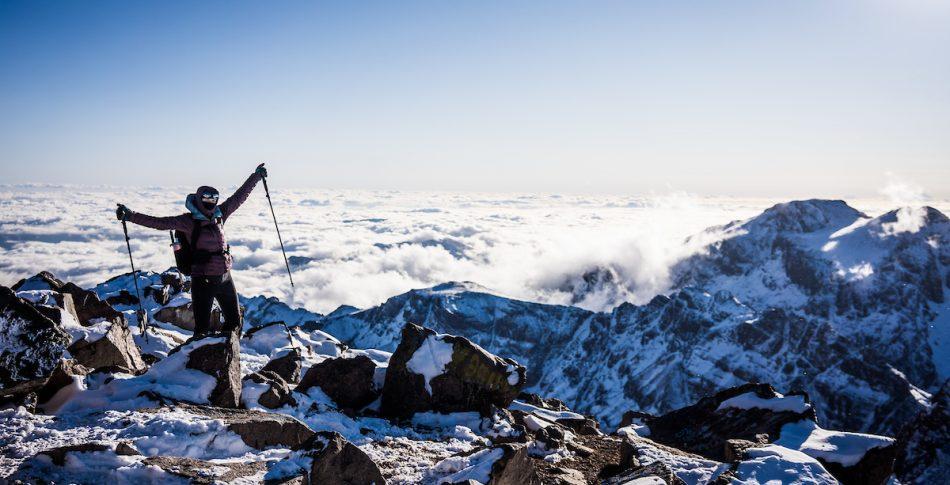 Get high in Morocco;  Toubkal og Ouanoukrim i januar